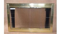 Polished Brass Optima Fireplace Door Polished Brass Finish