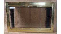 Polished Brass Optima Fireplace Door