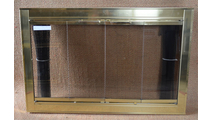 Polished Brass Optima Fireplace Door