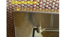 Discoloration on bend left side