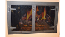 Blacksmith Fireplace Door in Natural Iron Finish