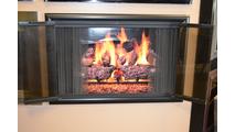 Horizon Fireplace Door Fully Open