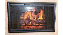 Flat Black Horizon Fireplace Door