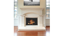 All Glass Legend Masonry Fireplace Door in Autumn Glow