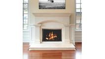 All Glass Legend Masonry Fireplace Door in Autumn Glow