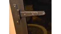 Strap Hinge Close Up in Rustic Black
