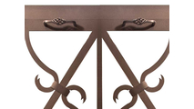 Banded Scroll Fireplace Door Handle Position