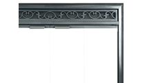 Brookfield Deluxe Refacing Top Right Corner Detail - Scroll louvers