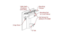 Cascade Fireplace Door mounting diagram