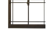 Craftsman Fireplace Door in Classic Bronze Bottom Left Corner Detail