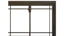 Craftsman Fireplace Door in Classic Bronze Top Right Corner Detail