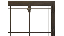 Craftsman Fireplace Door in Classic Bronze Top Right Corner Detail