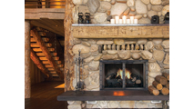 Black Rock Fireplace Door In Espresso powder coat finish