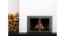 Milwaukee Fireplace Door in a Room Setting