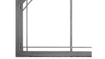 Arched Legend Fireplace Door With Window Pane Design Bottom Left Corner Detail