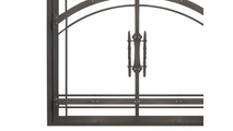 Madrid Fireplace Door in Classic Bronze Bottom Left Corner Detail