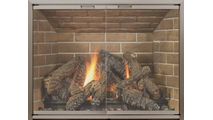 Yukon Masonry Fireplace Door in anodized Brushed Brass