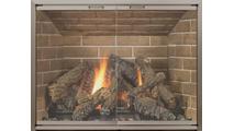 Huntress Masonry Fireplace Door in anodized Brushed Brass