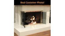 Yukon Frameless Corner Fireplace Door
