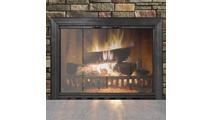 Savannah Fireplace Door in Textured Black