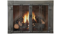 Milwaukee Fireplace Door In Forged Iron