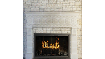 Cameo Masonry Fireplace Door - Installed