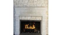 Cameo Masonry Fireplace Door - Installed