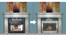 Reface your fireplace - before and after pics!