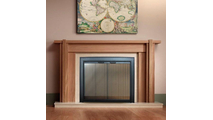 Gallery masonry fireplace door by Portland Willamette - installation suggestion