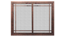 Shown in Rust Patina and Window Pane Design