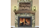 Add the clean looking low profile Carson fireplace door to your retreat!