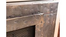 Close up of Forged Steel Laramie Masonry fireplace door