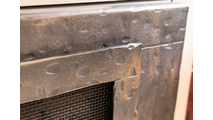 Close up of Forged Steel Laramie Masonry fireplace door