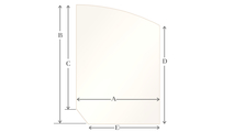 A11 Specialty cut pyroceramic glass for wood stoves
