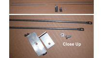 straight mesh curtain rod for fireplaces