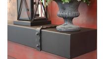Denali Steel Mantel Shelf in charcoal powder coat finish