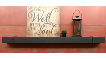 Denali Steel Mantel Shelf - matte black
