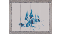 Laramie Fireplace Door in Oil Rubbed Bronze with Square Handles on Clearview Cabinet Doors with Clear Tempered Glass