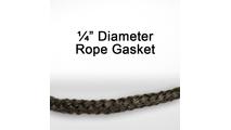 "1/4"" black graphite impregnated rope gasket for wood stoves."