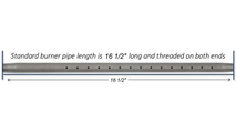 """17"""" Log Lighter Pipe Length"""
