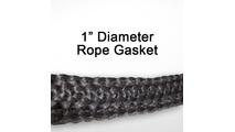 "1"" black graphite impregnated rope gasket for wood stoves."