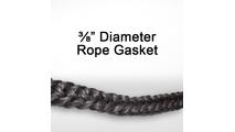 "3/8"" black graphite impregnated rope gasket for wood stoves."