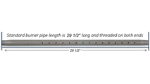 "30"" Log Lighter Pipe Length"