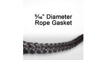 "5/16"" black graphite impregnated rope gasket for wood stoves."