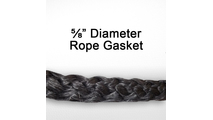 "5/8"" black graphite impregnated rope gasket for wood stoves."