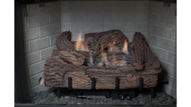 "24"" Palmetto Oak Vent Free Gas Log Set"