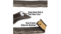 """5/8"""" tadpole gasket with soft fabric core"""
