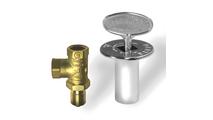 Chrome gas valve kit