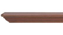 Bradford Wooden Mantel Shelf shown in a Dark Finish