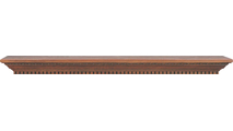 The Danforth fireplace wood mantel shelf